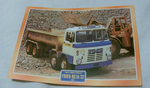 Foden RG18/32 1972 Tipper Truck framed picture